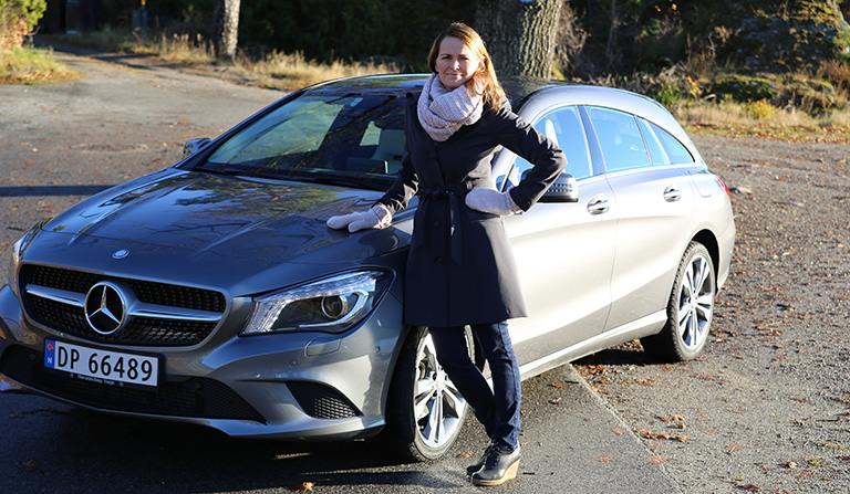 Merceres-Benz - Shooting Brake og Yvonne Hansen