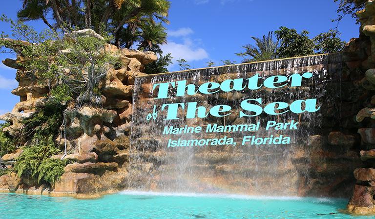 Inngangen til Theater of the Sea.