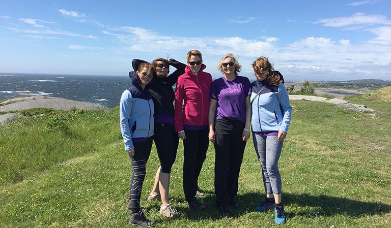Fra høyre Kjersti, Vibeke, Trine, Linda og Yvonne.