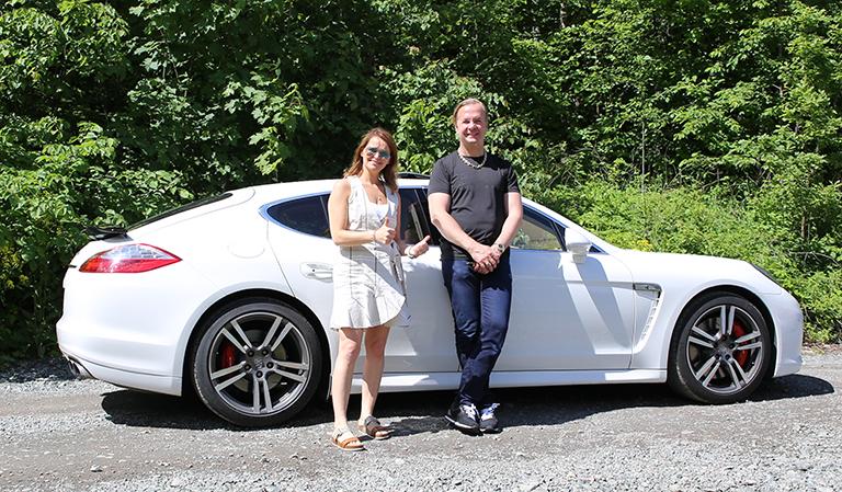 Bil, Tom Espen og Yvonne