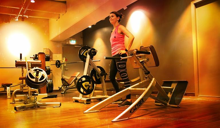 Yvonne på trening