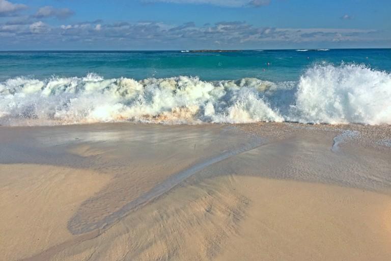 Bølger på Atlantis beach.