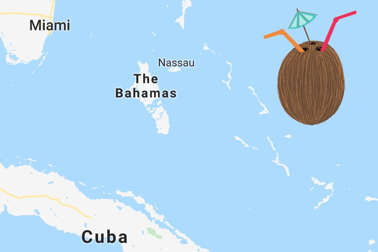 Kilde Google maps: Bahamas