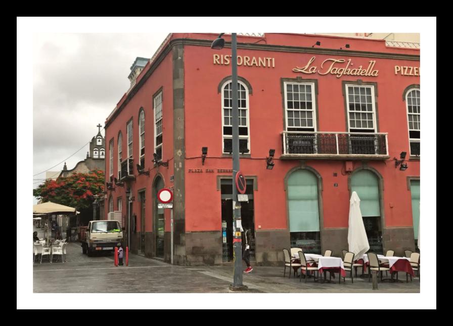 Restauranten La Tagliatella i Las Palmas.