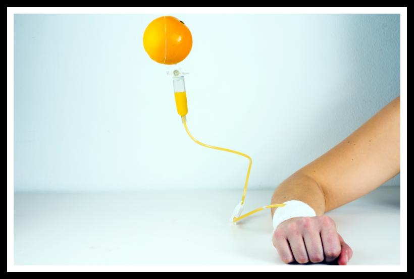 Illustrasjon - appelsin intravenøst