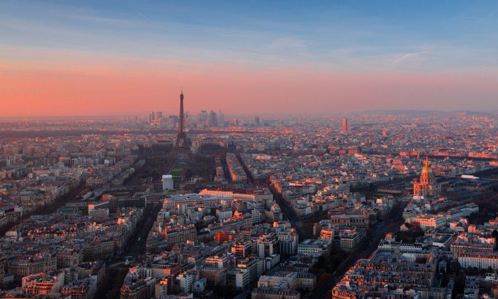 Luftfoto av Paris